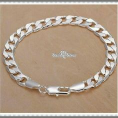 """🆕 925 STAMPED STERLING SILVER BRACELET 🆕    925 STAMPED STERLING SILVER BRACELET  Metal Type.       925 Sterling Silver Chain Type.       Link Chain Metal Type.       Silver Length.               7.5"""" - 8"""" Clasp.                  Lobster Style.                   Sideways EXCELLENT GIFT FOR YOURSELF OR FOR SOMEONE SPECIAL! Jewelry Bracelets"""