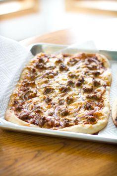 Smoked Gouda Pizza with Italian Sausage