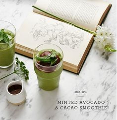 Serves 1 (makes just over 1 cup) Ingredients 1/ 4 large ripe avocado, flesh scooped out 1 large handful fresh mint leaves, plus extra, to garnish (optional) 1 s