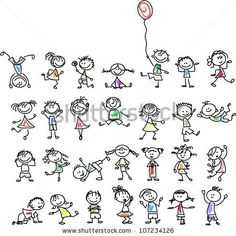 Cute happy cartoon kids by Virinaflora, via Shutterstock