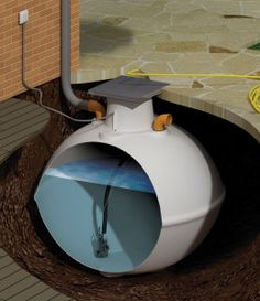 Rain water underground tank with pump