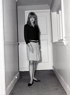 Marianne Faithfull in her flat in Knightsbridge | 1965 via http://faithfullforever.tumblr.com/