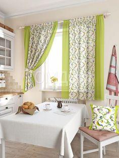 Комплект штор «Кулидж» зеленого цвета   Готовые комплекты штор: купить комплект штор в интернет-магазине   ТОМДОМ