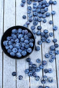 50 Blueberry Recipes - Blueberries are my favorite!