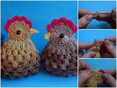 I want to share with you this video tutorial of how to make crochet easter chickens. Easter Projects, Easter Crafts, Crochet Chicken, Easter Crochet Patterns, Crochet Carpet, Crochet Circles, Easter Chickens, Crochet Dolls, Crochet Flowers