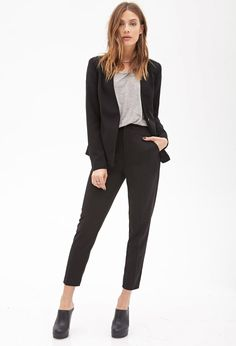 Tailored Woven Blazer | Forever 21 - 2000120739