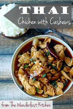 Easy recipe for restaurant-style Thai Chicken with Cashews | from The Wanderlust Kitchen