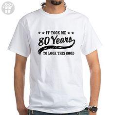 CafePress - Funny 80Th Birthday - 100% Cotton T-Shirt, White - Birthday shirts (*Amazon Partner-Link)