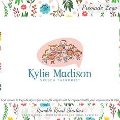 Kids Premade Logo Design and Blog Header Web por RambleRoadStudios
