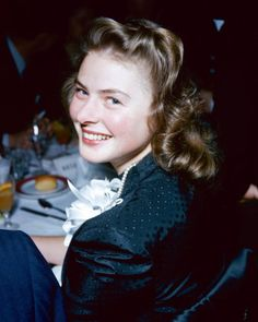 INGRID BERGMAN ~ one of the happiest pictures I have ever seen of her