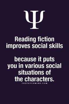 Psychology Facts My social skills are nonexistent and I read a lot of fiction Psychology Says, Psychology Fun Facts, Psychology Quotes, Book Quotes, Life Quotes, Career Quotes, Dream Quotes, Success Quotes, Quotes Quotes
