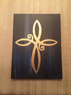 infinity Cross Canvas by SarahCanPaint on Etsy