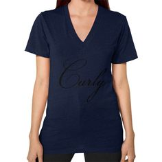 Curly V-Neck (on woman)