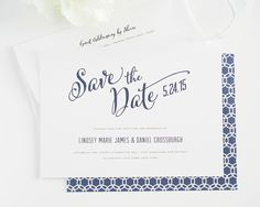 Modern Script Save the Date Cards - Save the Date Cards by Shine