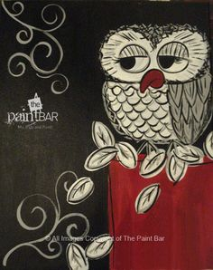 Vintage Owl Painting - Jackie Schon, The Paint Bar