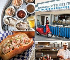 EAT @ Blue Plate Oysterette /// must-have: a dozen oysters (at least), lobster mac, fish tacos /// make a reservation /// 1355 Ocean Avenue, Santa Monica /// blueplatesantamonica(dot)com