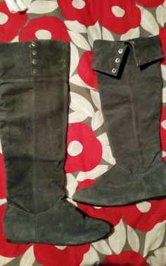Chinese Laundry Womens Size 10 Gray Suede Fashion Over the Knee Boots #ChineseLaundry #FashionOvertheKnee