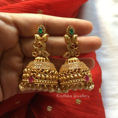 These 3 Brands Have The Hot Selling Antique Jhumkas Collection!! • South India Jewels