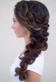 Hairstyles for catering, suitable owners of long hair.