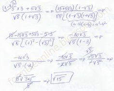 formuleonline probleme si exercitii rezolvate: Operatii cu radicali clasa a 7-a exercitiu rezolva... Chemistry, Physics, Math Equations, School, Easy, Physique