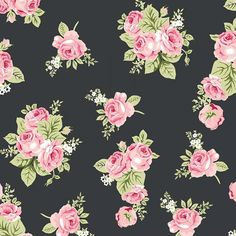 Love Floral Charcoal In Knit
