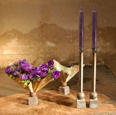 Table Settings. Tage Andersen Candlesticks.