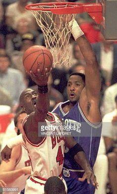 Ar Jordan, Jordan Bulls, Michael Jordan Basketball, Charlotte Hornets, Basketball Is Life, Basketball Players, Alonzo Mourning, Michael Jordan Photos, Jeffrey Jordan
