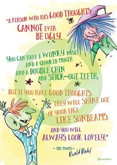 Roald Dahl Quote Poster - The Twits Teaching Resource Roald Dahl Movies, Roald Dahl The Twits, Roald Dalh, Roald Dahl Quotes, Roald Dahl Day, Literary Quotes, My Children Quotes, Quotes For Kids, Roald Dahl Activities