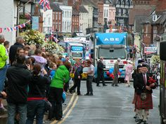 ABE Ledbury vehicles proudly taking part in the Ledbury Carnival 2012.