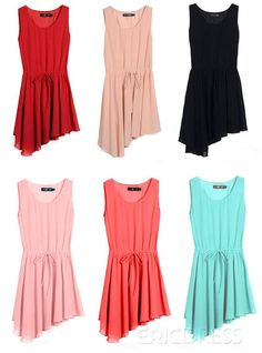 Casual Dress#Inexpensive Maxi Sleeveless Candy Color Jumper Dress#