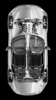 画像:すべての道が楽しい、FR専用設計SKYACTIV-G 1.5。 Mazda Cars, Mazda Miata, Mx5 Nd, Mazda Roadster, Automotive Manufacturers, Japanese Cars, Cutaway, Cool Cars, Convertible