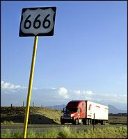 route 666 colorado sign | Let him that hath understanding count the number of the beast: for it ...