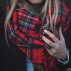 Plaid scarf - #autumn #casual style #readyforfall #fallfashion
