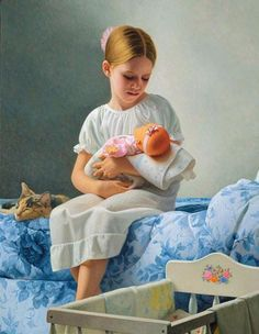 Stephen Gjertson (1949, American)  REMEMBER WHEN:  Little girls played house with  dollies ??