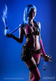 Jinx cosplay from League of Legends by xAndrastax Check out http://hotcosplaychicks.tumblr.com for more awesome cosplay