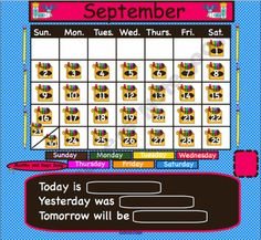 Themed Monthly Interactive SmartBoard Calendars