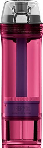 Thermos NSF/ANSI 53 Certified 22 Ounce Tritan Water Filtration Bottle, Pink