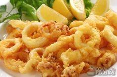 Receita de Lula crocante em Crustaceos, veja essa e outras receitas aqui!