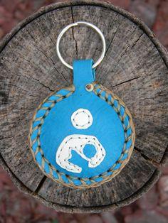 Breastfeeding Symbol Keychain turquoise by theindigoforest on Etsy, $15.00
