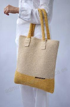 Yellow Handbag/Large Tote Bag/Crochet Handbag/Handmade Large Bag/Summer Bag/Yellow-Ecru Crochet Bag/Large Handbag/Woman Gift/Woman accessory Source by karahancengiz bag summer Crotchet Bags, Crochet Tote, Crochet Handbags, Crochet Purses, Love Crochet, Bead Crochet, Knitted Bags, Crochet Gifts, Knitting Patterns