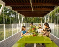 """Architect Burton Baldridge donated his services to Casis Elementary, his daughter's large public school in <a href=""""http://www.dwell.com/travel/austin-texas"""">Austin, Texas</a>, to design and build an outdoor classroom that would augment an organic gardening program."""