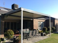 Project providing an extensions to existing alfresco  the colorbond framed Louvre Verandah create a usable outdoor dining area