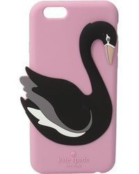 Kate Spade | Silicone Swan Phone Case For Iphone 6 | Lyst