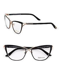 023cb1e45c7c Ready for London Fashion Week  London Designer - Tom Ford Eyewear Cat s-Eye  Eyeglasses