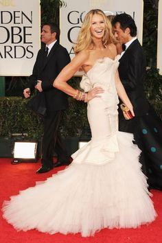 Elle Macpherson in Zac Posen   10 Best Golden Globe Dresses   Camille Styles