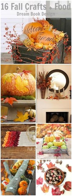 The best collection of fall inspired craft projects food, DIY, home decor for autumn. The pumpkin decor for the front porch is my favorite idea! .