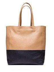 Elegant Brief Color Matching Women's Handbags Light Camel