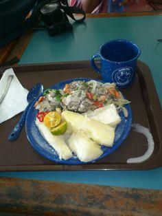 Mejillones de agua dulce con yuca, limón y chiles en #Fiyi. #ProyectoPlato #PlatoViajero #LoveFood