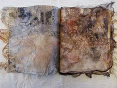 wake robin: 12 moons it contains drawing printing stitching dyeing spinning weaving, a winter of work. or serious play (as carol blinn calls it) on silk, shifu, flax, cotton & lokta paper and cloth. Fabric Journals, Art Journals, Fabric Books, Moon Texture, Stitch Book, Collage, Textiles, Handmade Books, Book Journal