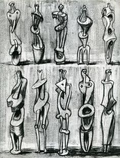 for Metal Standing Figures – Results – Search Objects – Henry Moore Foundation Modern Sculpture, Sculpture Clay, Abstract Sculpture, Bronze Sculpture, Textiles Sketchbook, Artist Sketchbook, Henry Moore Drawings, Small Sculptures, Metal Sculptures